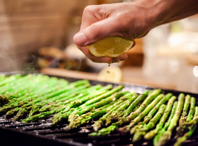 Westley on Broadway Grilling Asparagus
